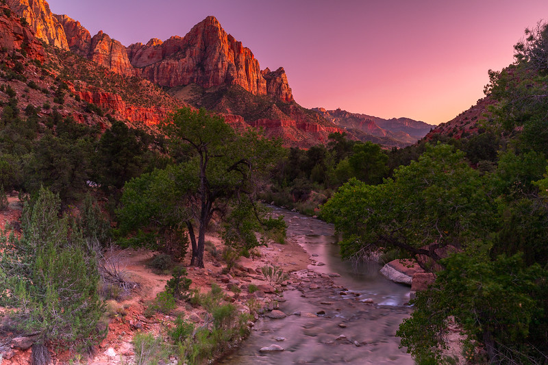 Sunset @ The Watchman Tower | Zion National Park