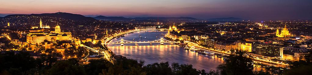 Budapest Sunset Panorama