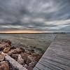 Dramatic Sunset at Bahai Beach