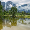 Yosemite Falls reflection