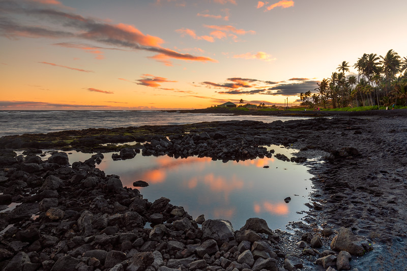 Sunset @ Punaluʻu Beach (Black Sand Beach)  | Big Island, Hawaii
