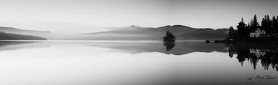 Panorama Loch Katrine B&W