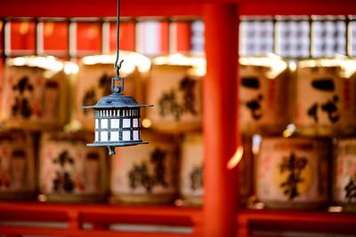 Details of the Itsukushima shrine