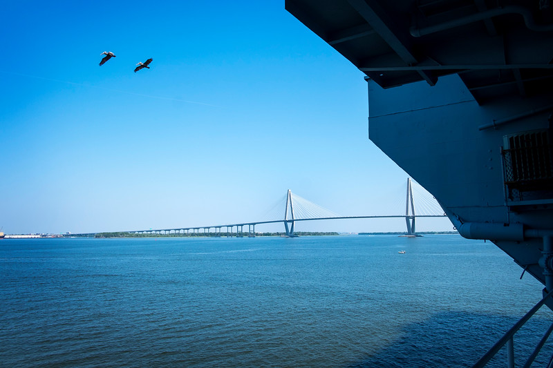 arthur ravenel jr. bridge from the uss yorktown