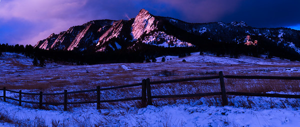 Sun Warming The Flatirons