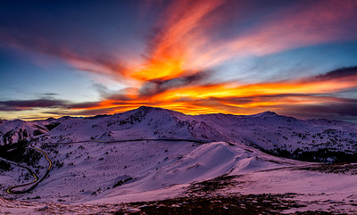 Sunset at 12000 feet