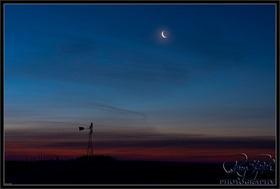 Windmill and the Moon