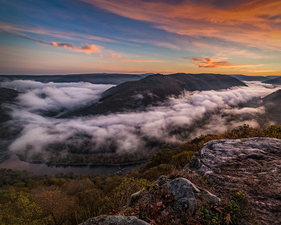 A sunrise a couple weekends ago at #grandview WV