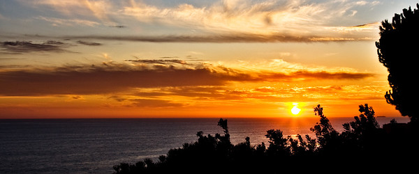 Malibu Sunset in California
