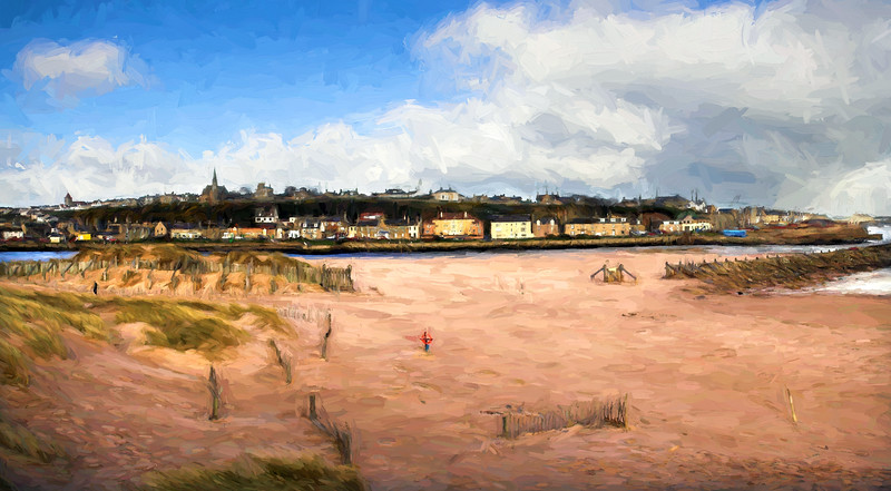 Lossiemouth East Beach Painting