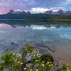 Redfish Lake Pink Sunrise