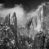 Cathedral Peaks Winter Monochrome