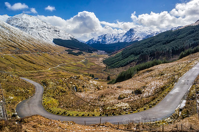 "The ""Rest and Be Thankful"" mountain pass at Argyll, Scotland, UK"