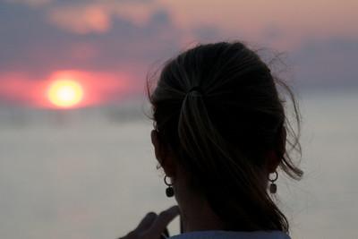 My friend Becca photographing the sunset. Montauk Long Island.