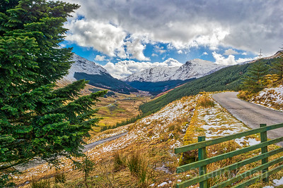 "The ""Rest and Be Thankful"" mountain pass at Argyll, Scotland, UK - Looking towards the Glen"
