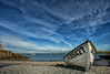 Boat moored at Moelfre, Anglesey.