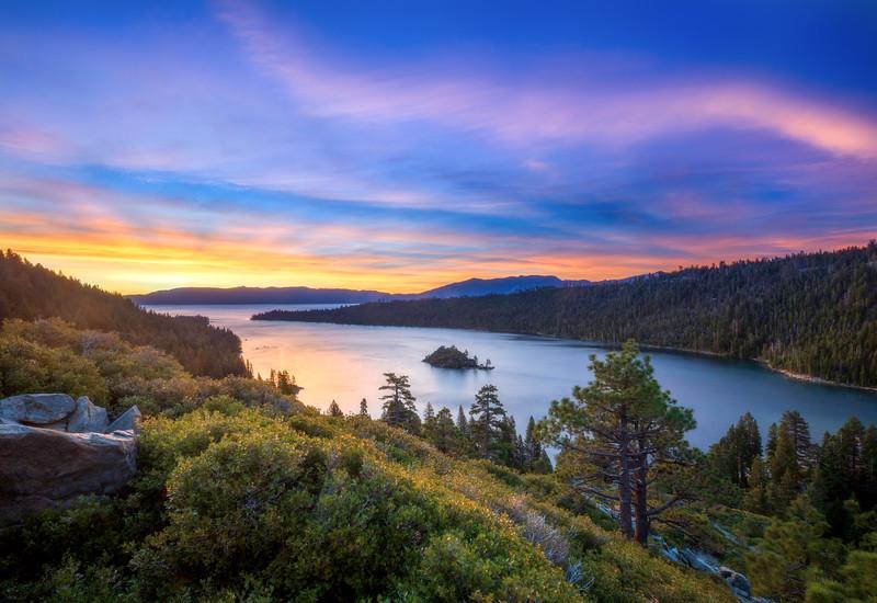 Emerald Bay Crepuscular Rays