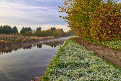 Misty Morning on the Leeds to Liverpool Canal
