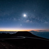 Haleakala with Galactic Core and 18% moon