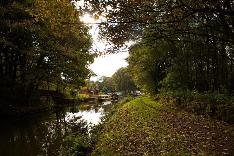Leeds - Liverpool canal near Altham, Lancashire.