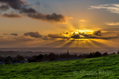 Sunrays over Mellor, Blackburn