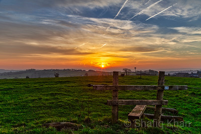 Sunrise over Mellor, Blackburn, Lancashire