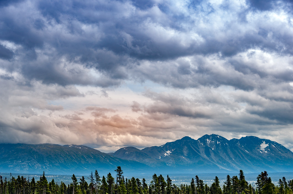 Clouds make for a moody image.  #thepursuit to #createmore . . #nature #travel #explore #earth #landscape #picoftheday #adventure #alaska #fall #autumn #mountains #clouds