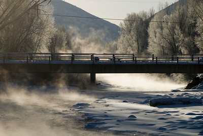 A cold day just outside my back door. Confluence of the Frying Pan and Roaring fork Rivers.