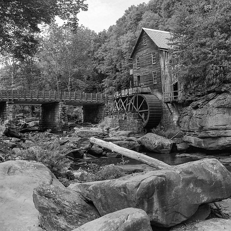 The old Mill at Babcock State Park, WV Shot on Mamiya RZ67 with Ilford Delta 100 Pro
