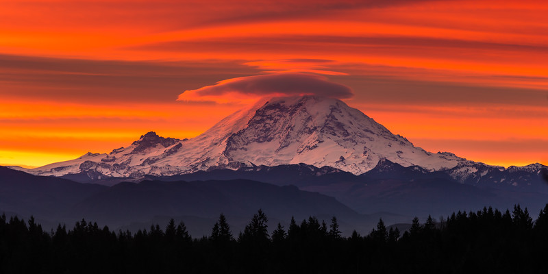 Red Rainier - Landscape Format