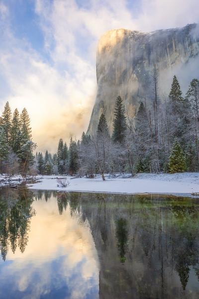 El Capitan Winter Mist