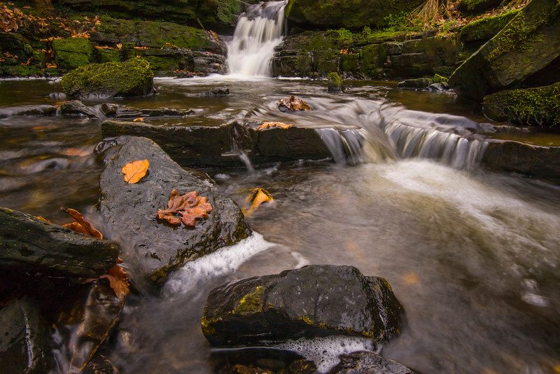 A small waterfall on Tinklers Brook, near Belthorn, Lancashire