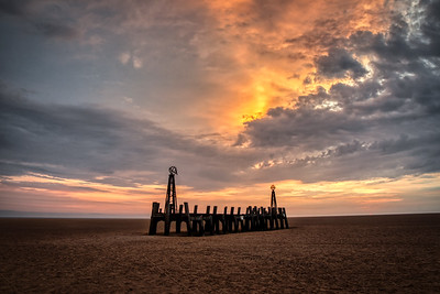 Sunset at the Old Jetty, St Anne's Pier, Lytham, Lancashire