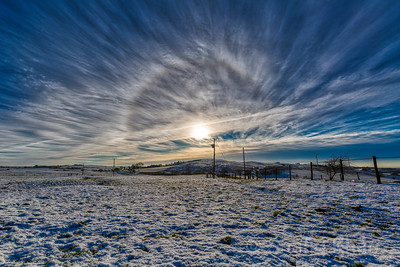 Halo over Snodworth Farm, Blackburn