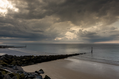 Clouds over Sheringham Beach