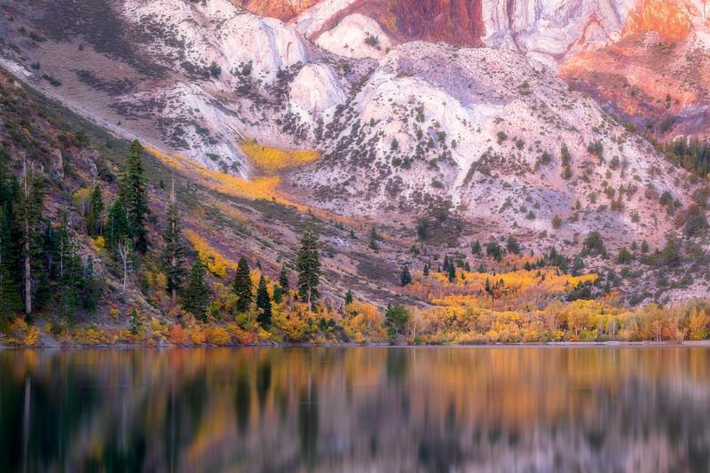 Convict Lake Metamorphic Rock and Autumn Foliage