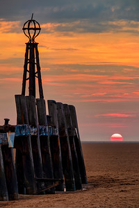 Sunset at the Old Jetty, St Annes Pier, Lytham, Lancashire