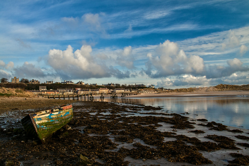 Old Skiff Boat on the River Lossie at Lossiemouth.