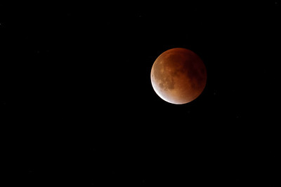 Super Blood Moon over Boston, MA