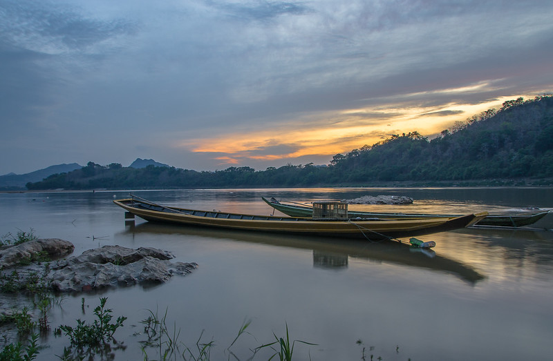 Sunset in the Mekong