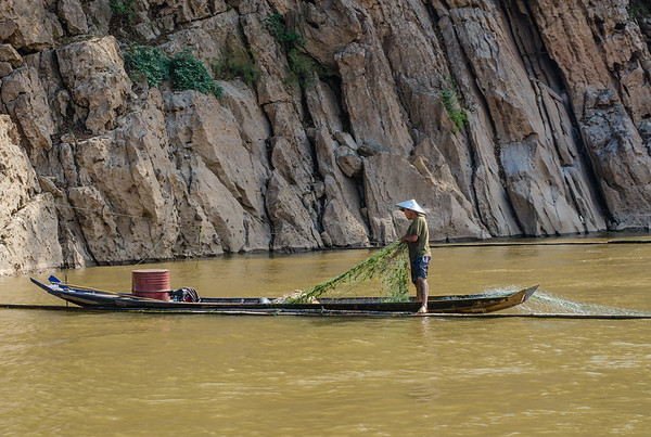 Fisherman in the Mekong