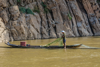 Fisherman in the Mekong