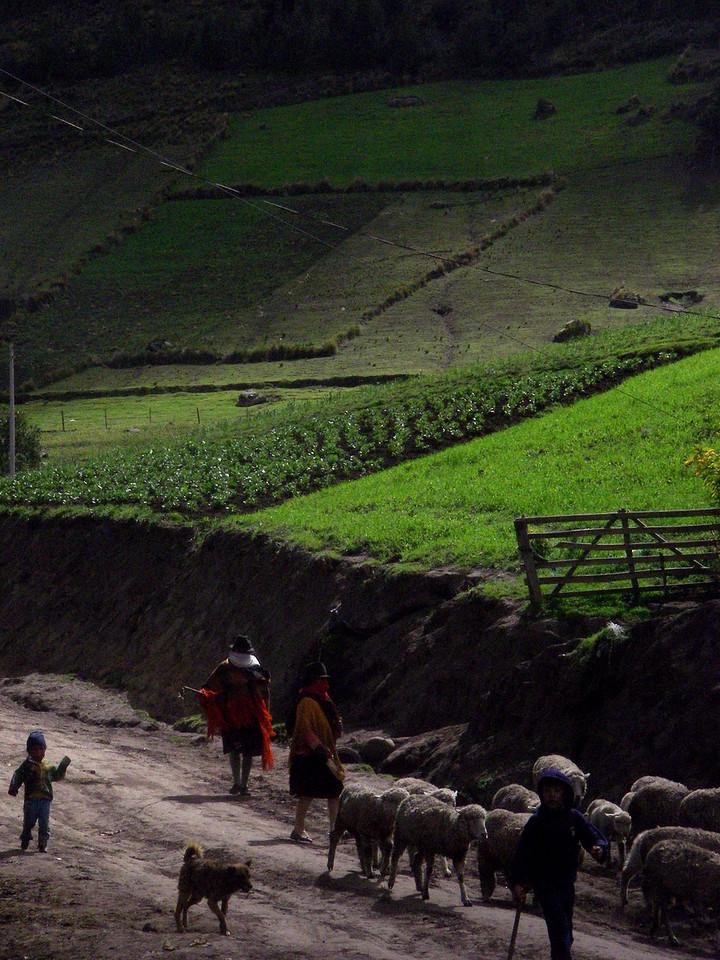 Estrada de Quilotoa, Equador, 2007.