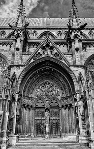 Lincoln Cathedral Side Entrance Monochrome