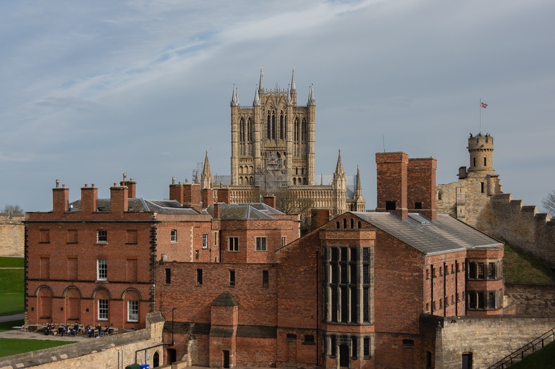 Lincoln Cathedral Behind The Castle