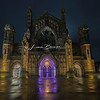 Hereford Cathedral at Night