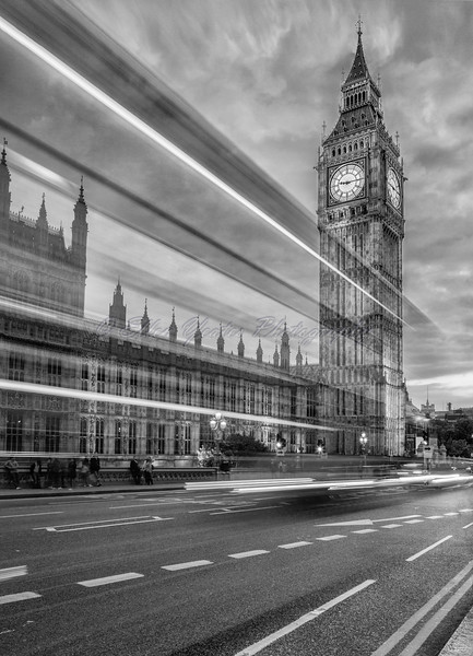 London Bus Trail To Big Ben