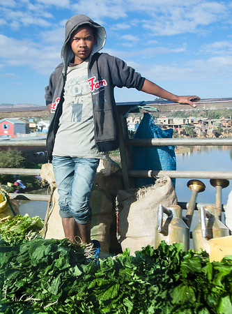 Vegetable street seller, Antananarivo