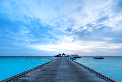 Boat jetty at sunrise.