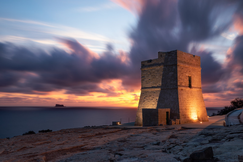 Sunset Sciuta Tower Zurrieq
